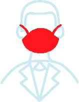 Wear Mask line drawing